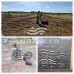 collage of images showing gpr technician determining ground penetrating radar depth
